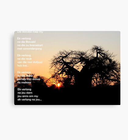 Missing you/Ek verlang Canvas Print