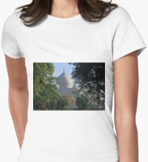 The Taj amongst the trees. Womens Fitted T-Shirt