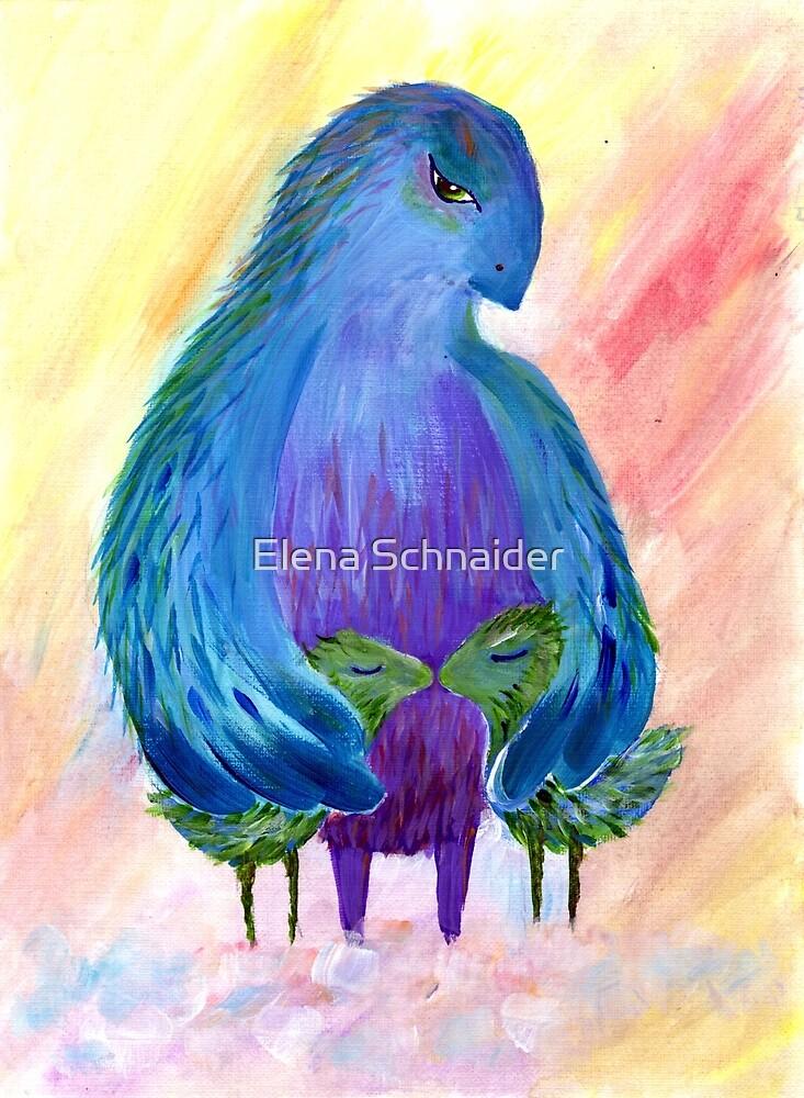 Bird Brings Good Luck. Family by Elena Schnaider