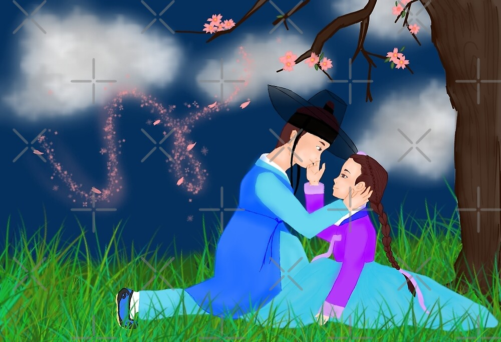 Hanbok couple by liajung