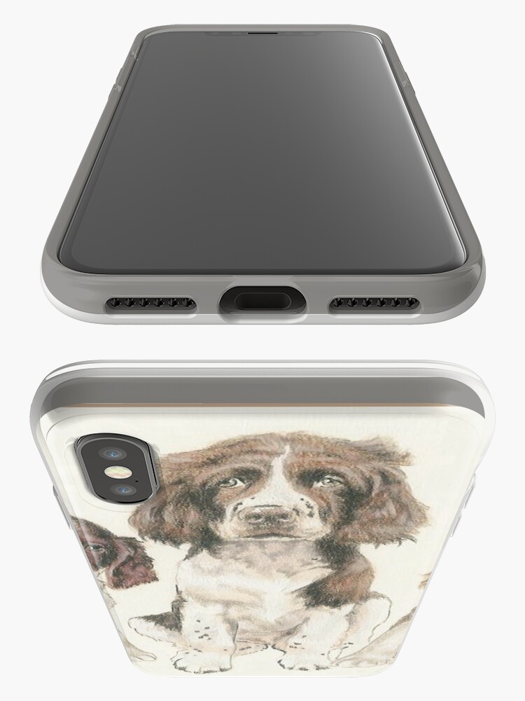 Alternate view of English Springer Spaniel Puppies iPhone Case & Cover