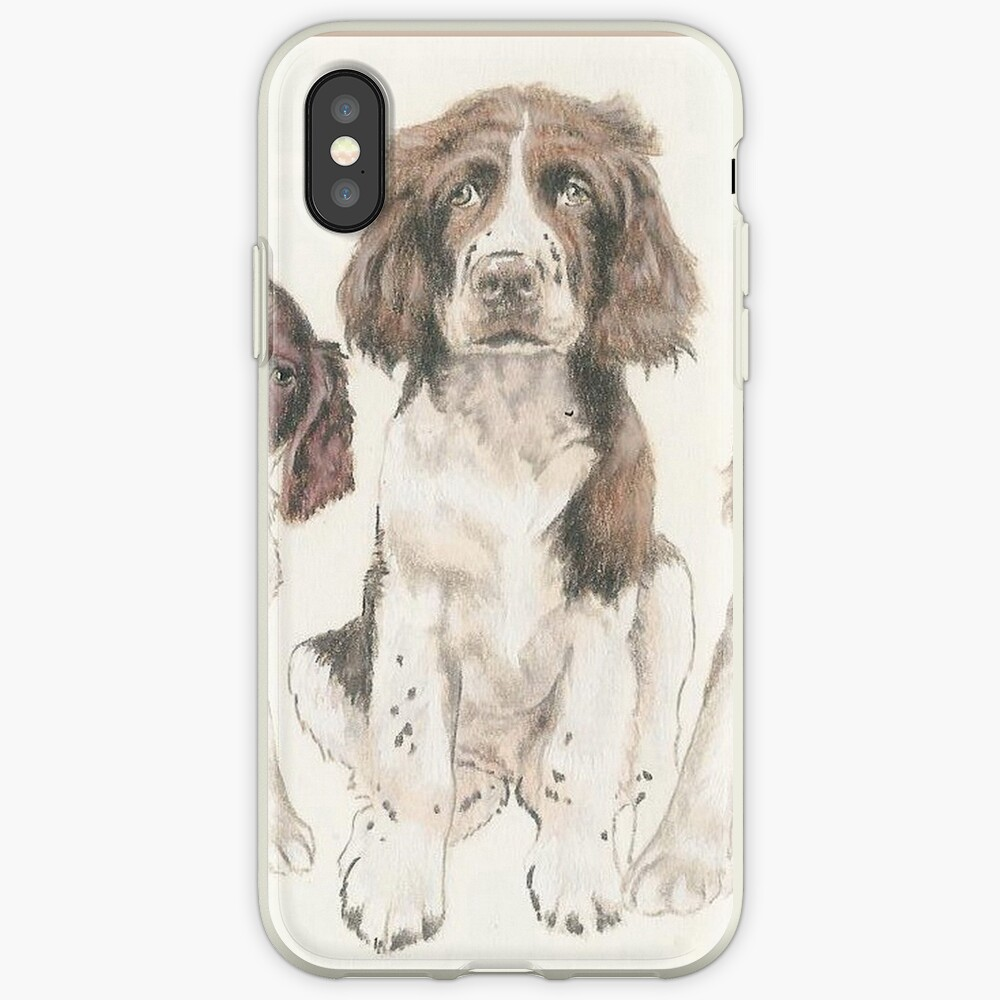 English Springer Spaniel Puppies iPhone Case & Cover