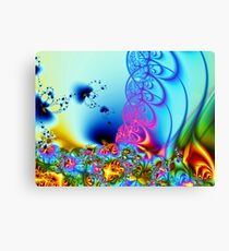 Flowers, Butterflies and Lace  Canvas Print
