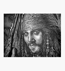 """Johnny Depp-Pirates of the Carribean"" Photographic Print"