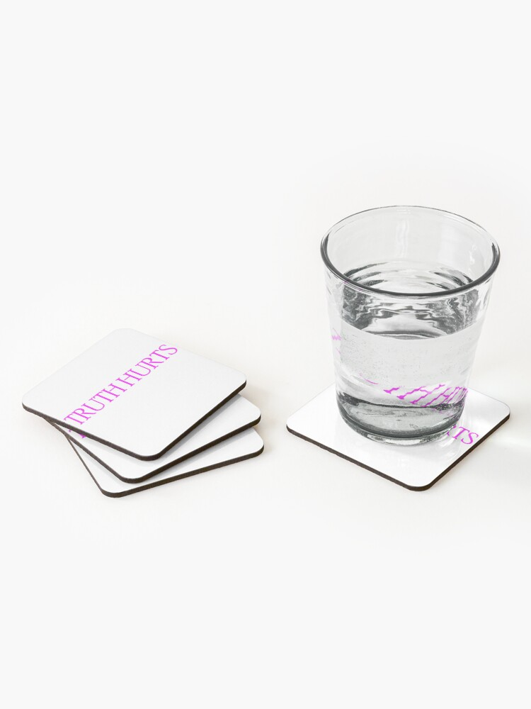 Alternate view of Truth Hurts Pink Coasters (Set of 4)