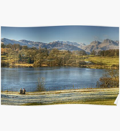 Loughrigg Tarn..A Bench With A View Poster