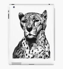 Cheetah Black Tonal Fineliner Drawing iPad Case/Skin