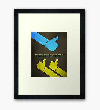 Word: Matthew (We Agree) Framed Print