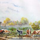 Misty morning cattle. by Joe Trodden