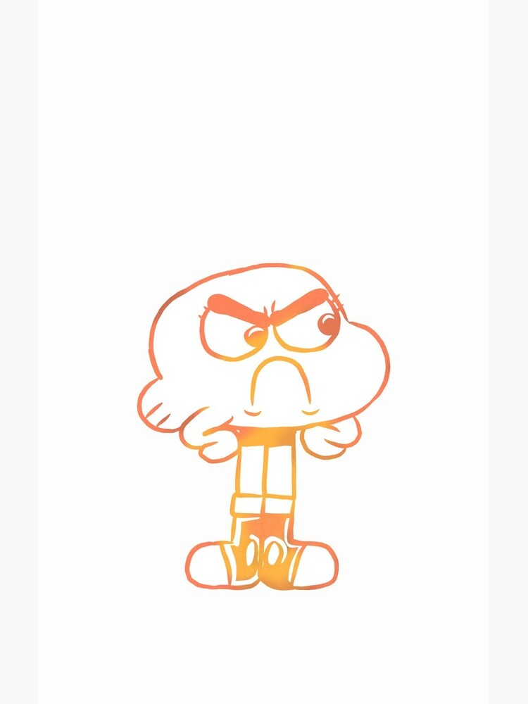 Upset Darwin Outline - The Amazing World of Gumball by RoserinArt