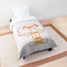 Upset Darwin Outline - The Amazing World of Gumball Comforter