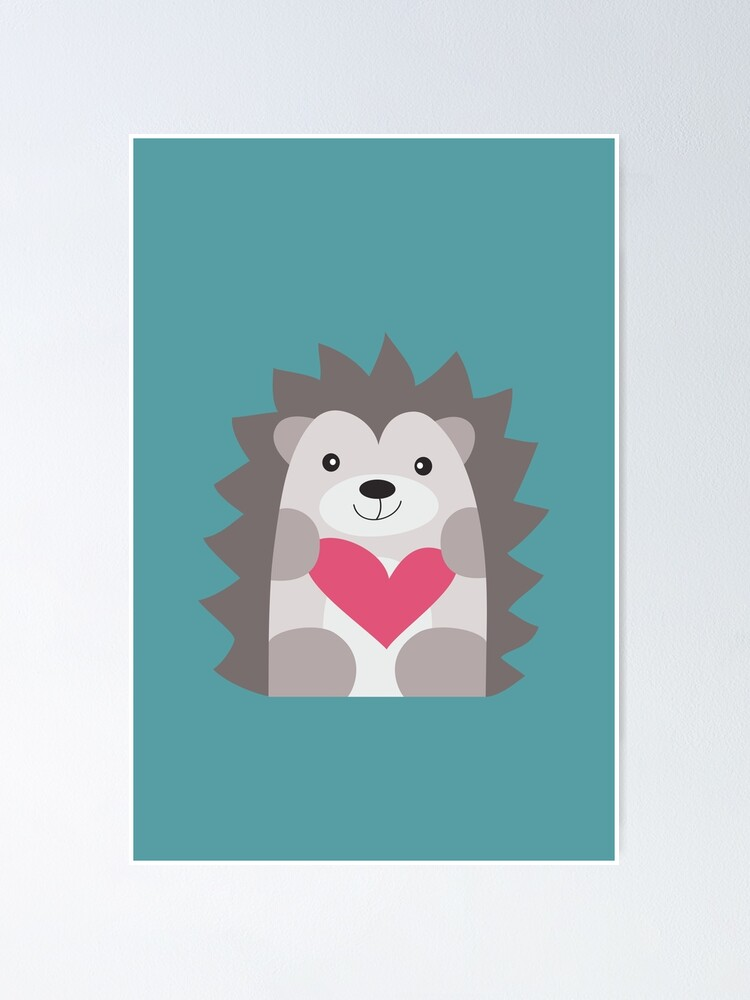 Alternate view of Hedgehog Poster