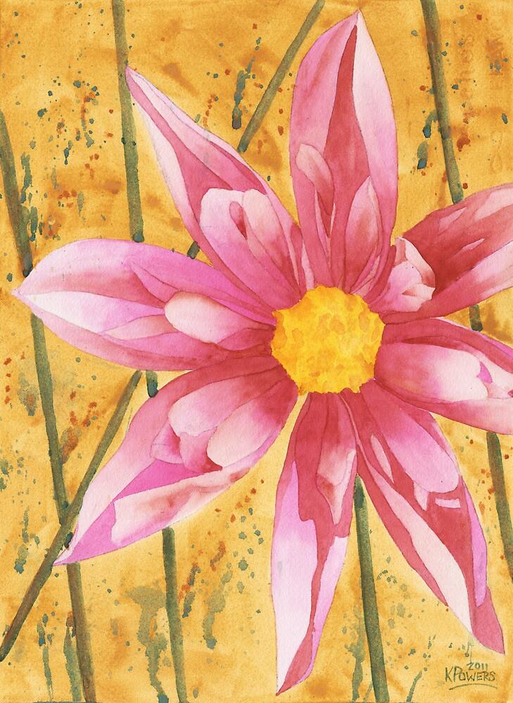 Stylized Dahlia by Ken Powers