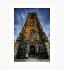 Derby Cathedral Tower Art Print