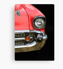 Red Chevy Car Canvas Print