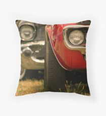 Muscle Cars In A Row Throw Pillow