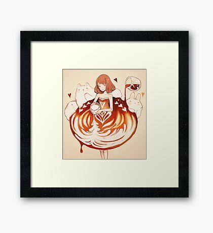 a caffè latte dress. Framed Print