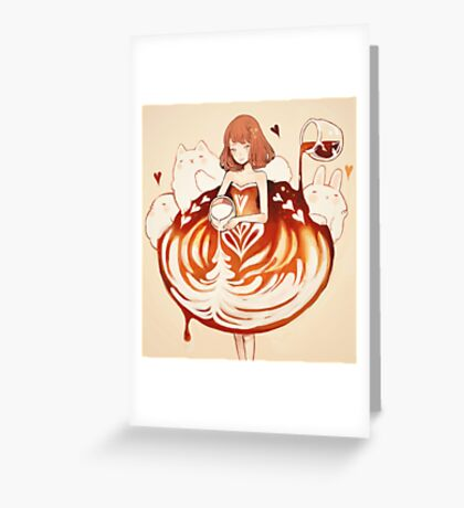 a caffè latte dress. Greeting Card