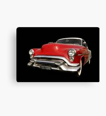 Red old chevy car Canvas Print