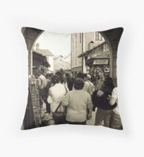 An archway in Safranbolu Throw Pillow