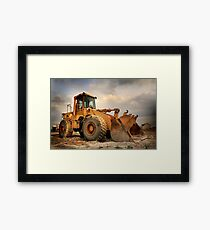 Construction Equipment Framed Print