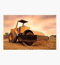 Construction Equipment Photographic Print