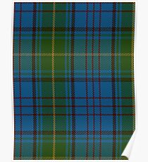 00321 Donegal County Tartan Poster