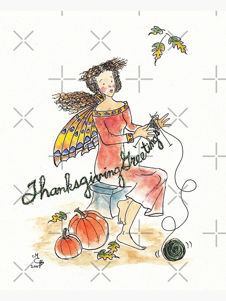 Thanksgiving Greetings - The Knittington Fairies by LeisureLane1
