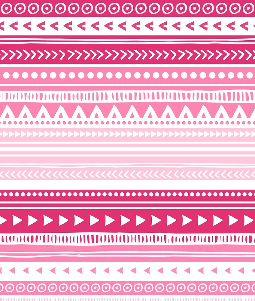Pink, fuchsia tribal pattern by dreamingmind