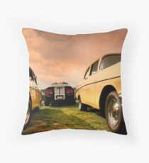 Two Muscle Cars Throw Pillow
