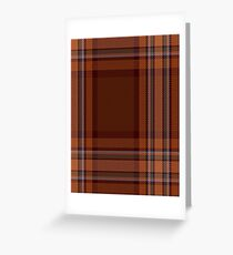 00324 Down County (District) Tartan  Greeting Card