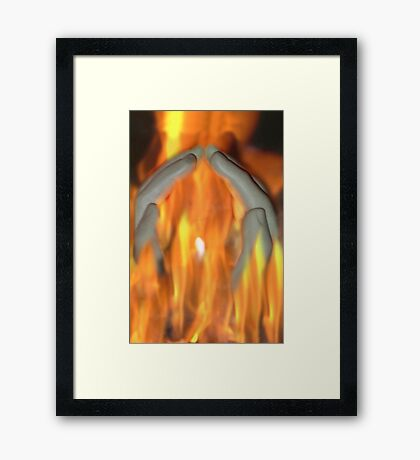 In to the light Framed Print