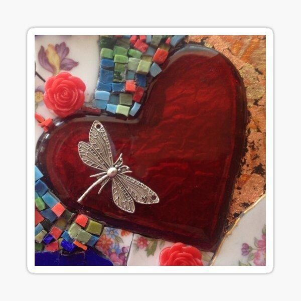 Dragonfly Love Sticker