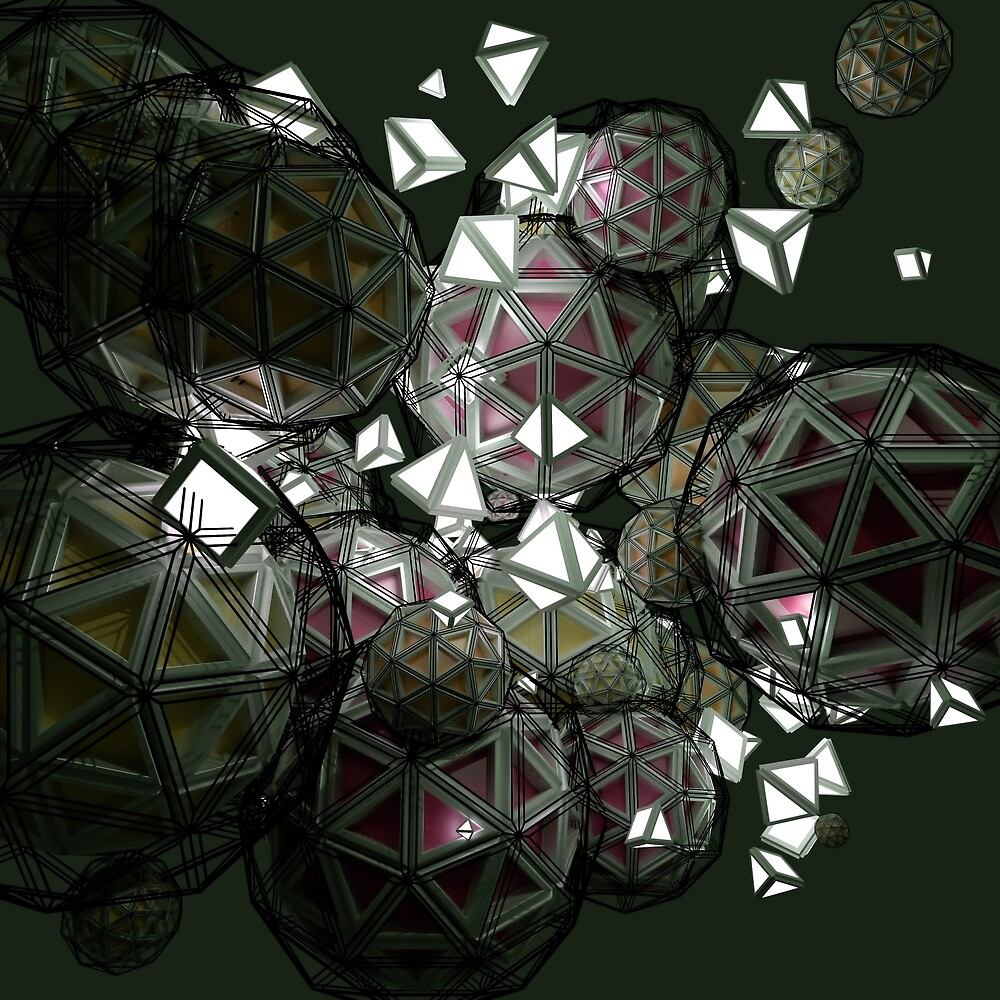 Luminance Icospheres - CG render by gr8effect