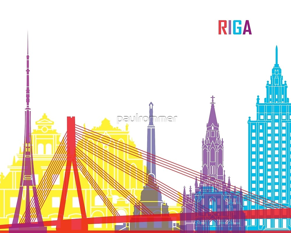 Riga skyline pop by paulrommer