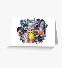 Team Anime Greeting Card