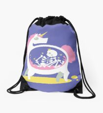 The Truth About Unicorns Drawstring Bag