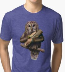The owls are not what they seem Tri-blend T-Shirt