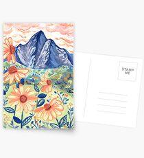 Daisy Gouache Mountain Landscape  Postcards