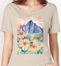 Daisy Gouache Mountain Landscape  Relaxed Fit T-Shirt