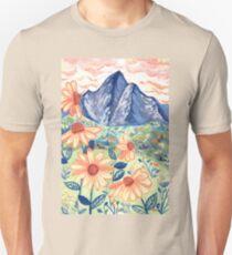 Daisy Gouache Mountain Landscape  Slim Fit T-Shirt