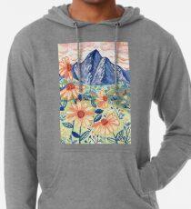 Daisy Gouache Mountain Landscape  Lightweight Hoodie