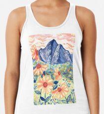 Daisy Gouache Mountain Landscape  Racerback Tank Top