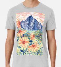 Daisy Gouache Mountain Landscape  Premium T-Shirt