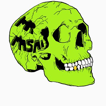 Green Skull by MrMasai