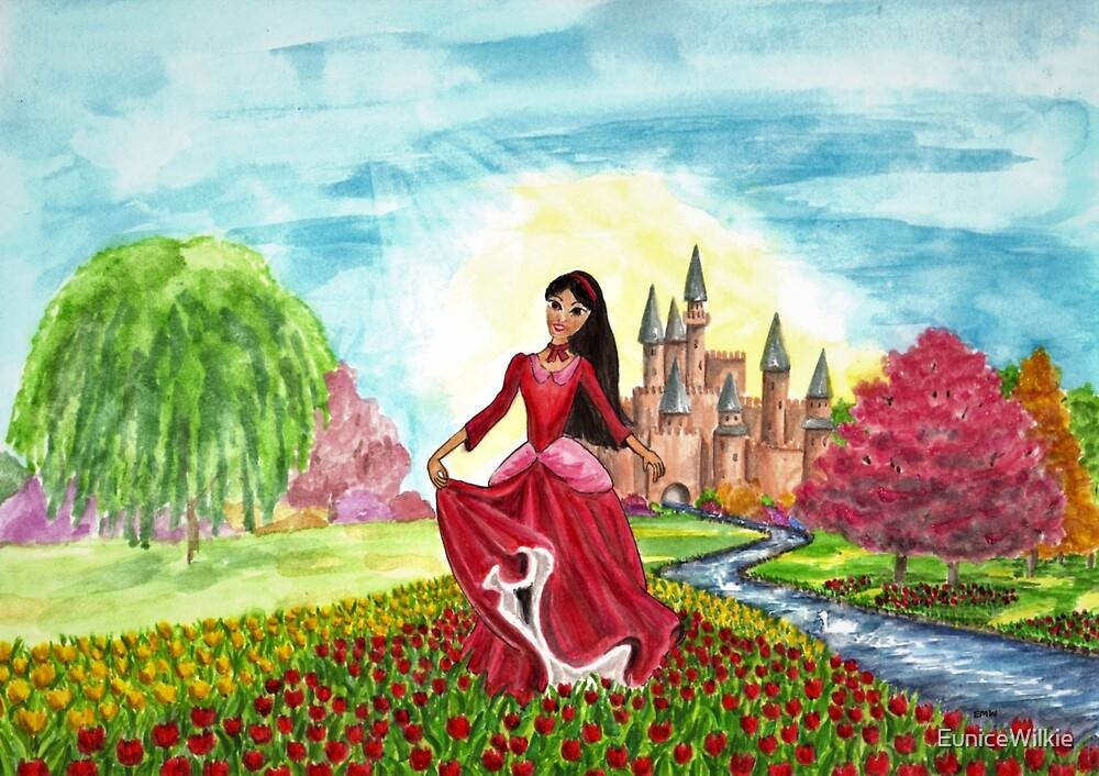 Princess Precious at Shining Palace - Bedding & Blankets by EuniceWilkie