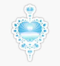 Pale Blue Hearts  Sticker