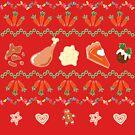 Ugly Sweater Weihnachtsessen Strick Muster von Annika Leistikow
