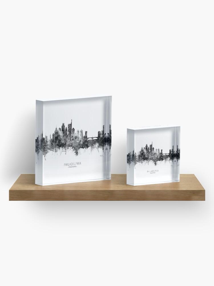 Alternate view of Philadelphia Pennsylvania Skyline Acrylic Block