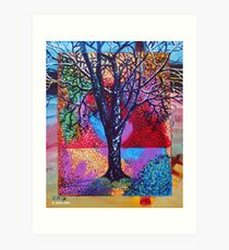 'Tree in a Field of Color' Art Print